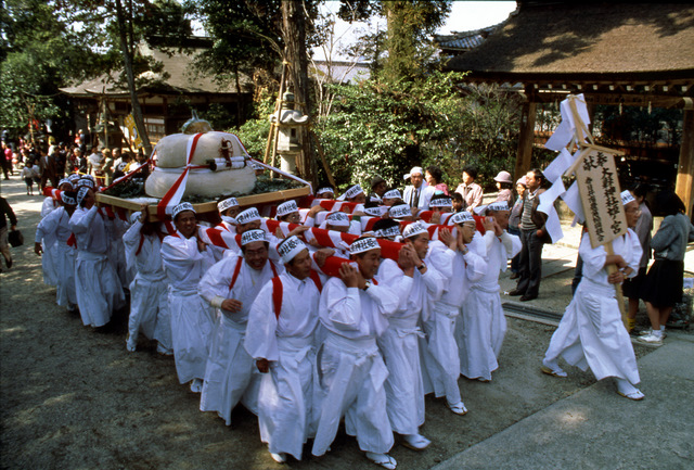 Hounensai (Festival to pray for good harvest) at Ooagata Shrine, Inuyama City, Aichi