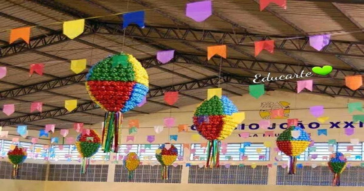 Decoraç u00e3o para Festa Junina u2014 SÓ ESCOLA -> Decoração De Festa Junina Para Escola