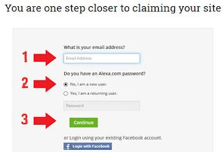 Cara mendaftarkan blog di alexa