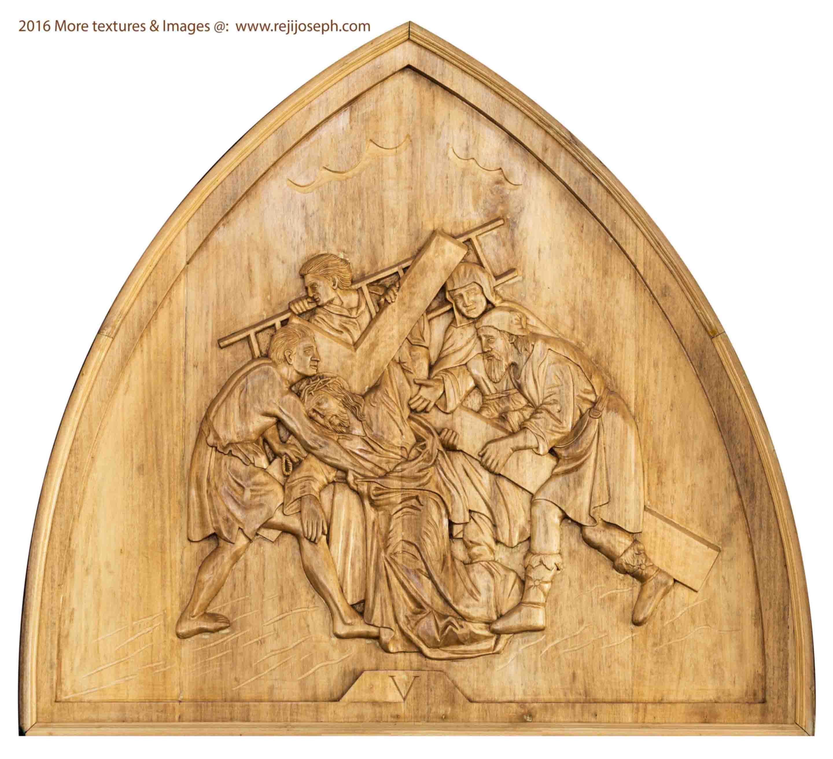 Way of the cross wooden relief 005
