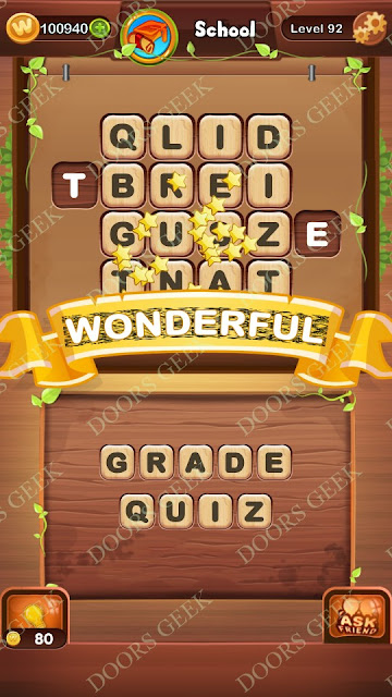 Word Bright Level 92 Answers, Cheats, Solutions, Walkthrough for android, iphone, ipad and ipod