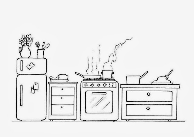 Maestra de primaria muebles y objetos de la casa para for Comedor facil de dibujar