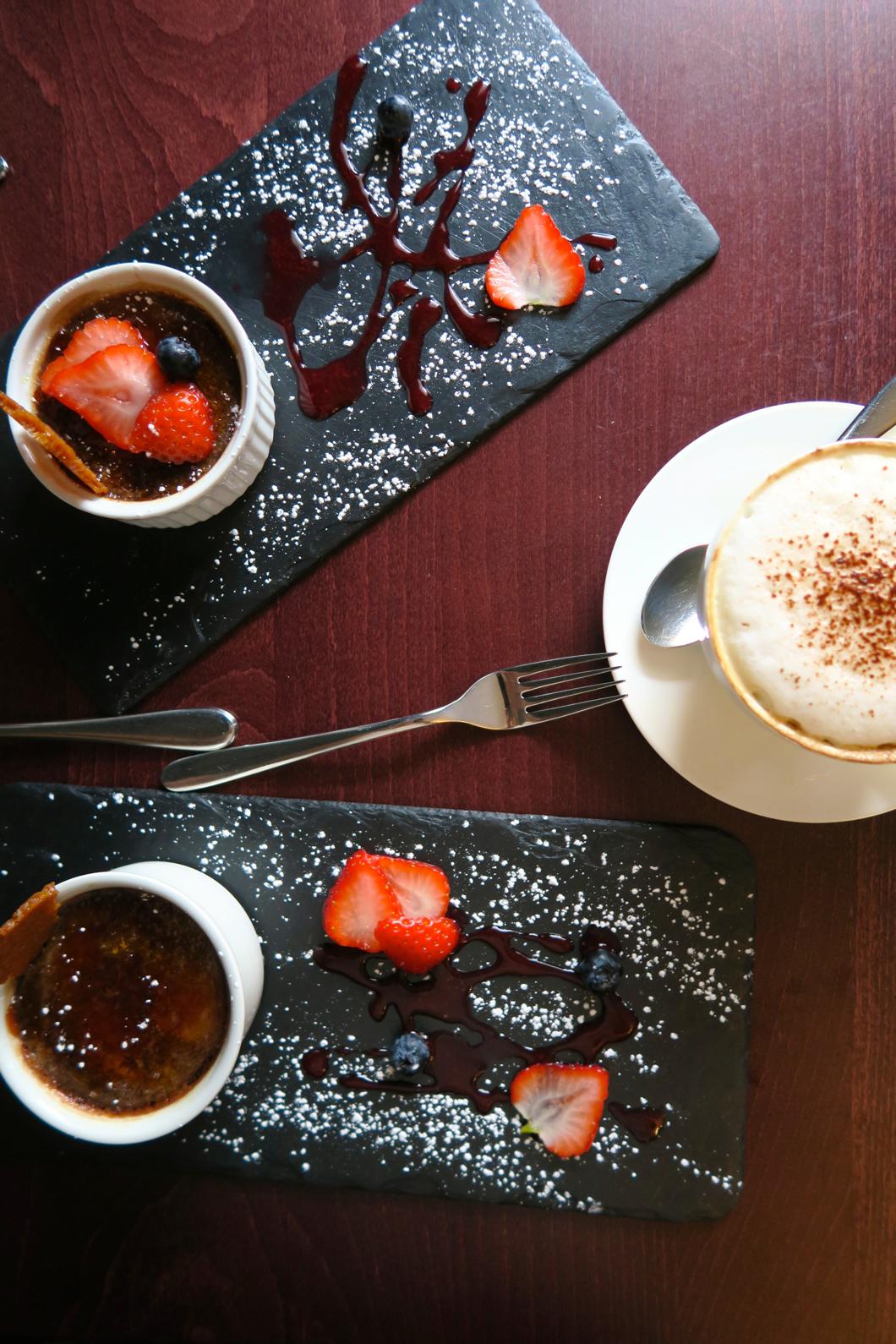 Raspberry and chocolate creme brûlée