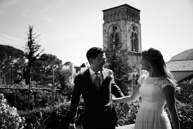 Fun summer wedding in Ravello