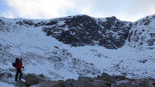 Guided winter climbing with Adam on a Cairngorm winter mountaineering course