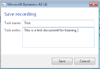 Save Task recorder recording with a name and notes