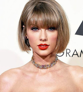 Gaya Rambut Tailor Swift Bob