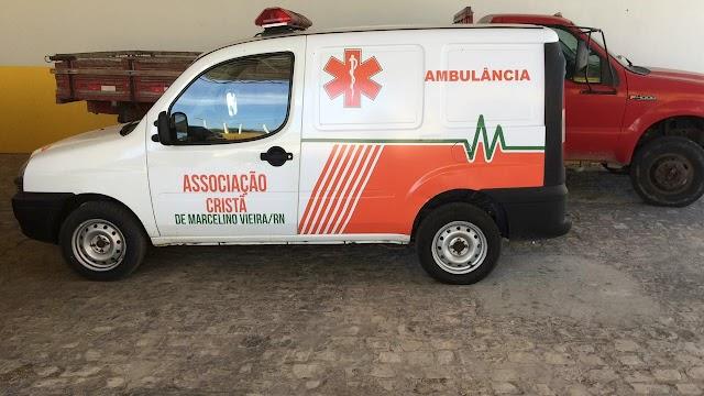 Marcelino Vieira - RN ganhou uma nova ambulância para atender a população