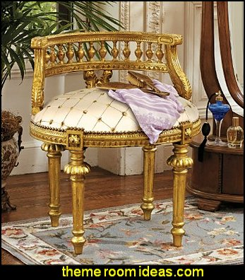 Mademoiselle Cezanne's French Slipper Chair Luxury bedroom designs - Marie Antoinette Style theme decorating ideas - French provincial furniture baroque style - Louis XVI furniture - Rococo furniture - baroque furniture - marie antoinette bedroom ideas - marie antoinette bedroom furniture