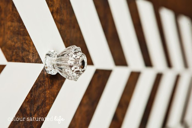 clear glass decagon knob
