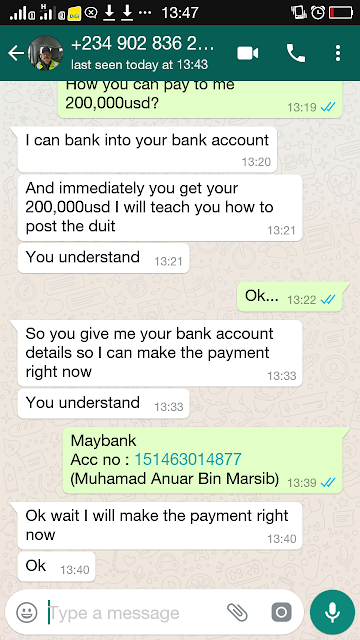 Pengalaman Saya Berhadapan dengan Scammer Melalui Whatsapp Call