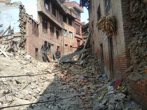 nepal earthquake kathmandu damage