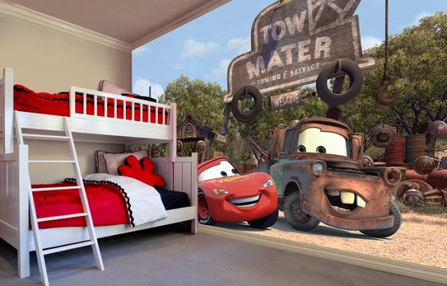 Tapetti lastenhuoneeseen valokuvatapetti lapsia Disney cars Disneyn Autot lastenhuone tapetti lasten tapetti