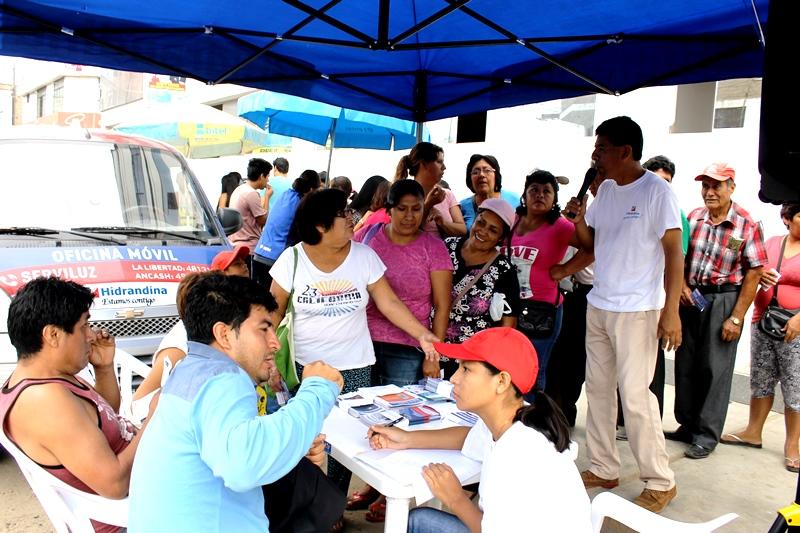 Hidrandina recorre distritos y provincias de regi n la for Oficina turismo trujillo