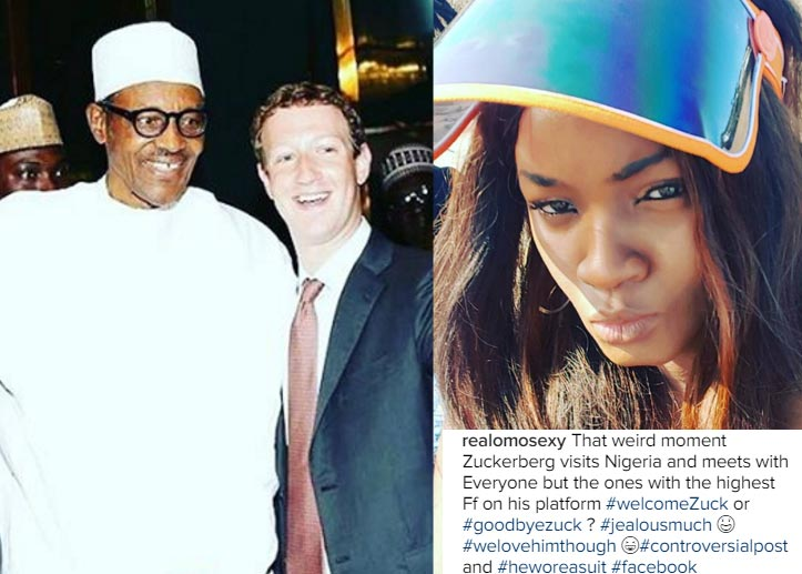 People react after Omotola critisized Mark Zuckerberg for snubbing her