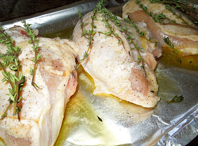 chicken breasts with thyme