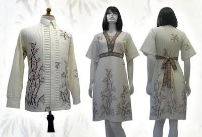 Gambar Model Busana Batik Solo Seragam kerja Terbaru