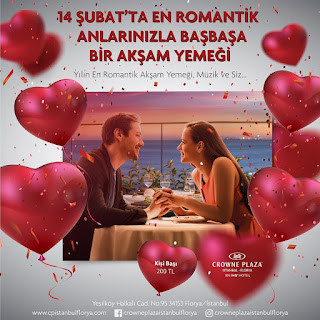 14 şubat romantik akşam yemeği sevgililer günü otelleri
