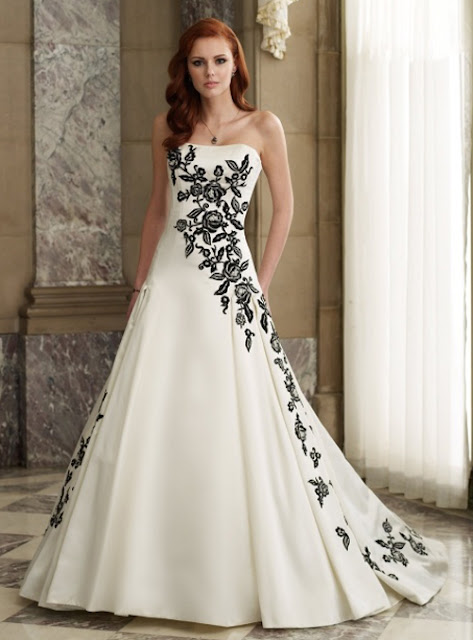 black and white wedding dress, black and white wedding dresses