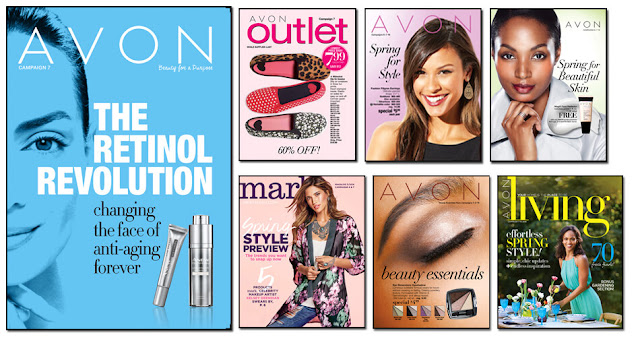 Avon Campaign 7, Avon Outlets, Avon mark magalog, The online date on this Avon catalogs 3/05/2016' - 3/18/2016'