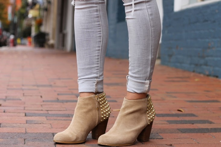 Gold Studded Ankle Boot