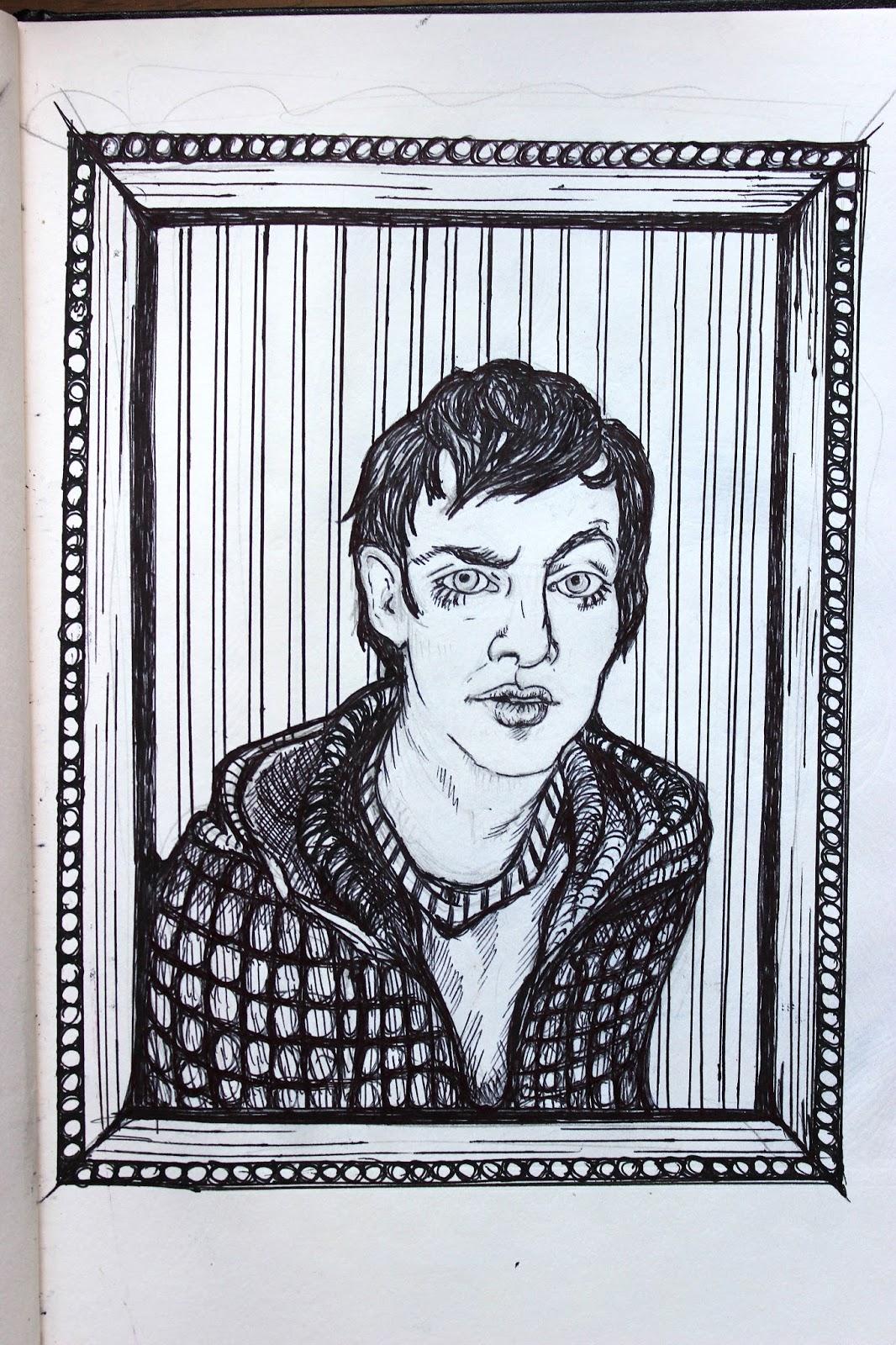 Sketchpad Notebook Sketch Drawing Pencil Portrait Miles Eyebrow Pen