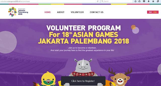 Pendaftaran Sukarelawan Asian Games 2018
