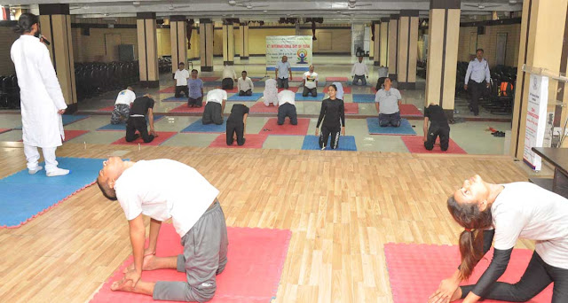 The function of Yoga on the fourth International Yoga Day at DAV Centenary College