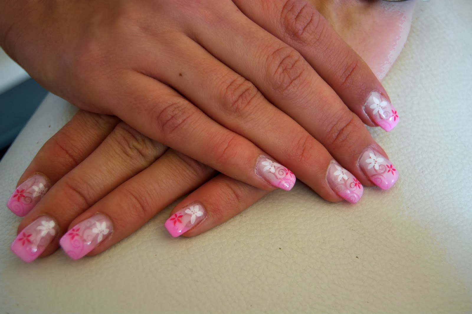 Nageldesign Weiß Rosa Nageldesign Rosa French