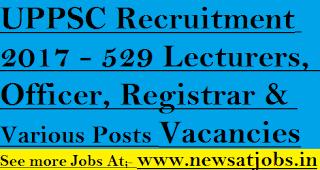 UPPSC-jobs-529-Lecturers-Officer-Various-Vacancies