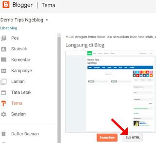 Cara Mengganti Template Blog dengan File Template Blog Format Notepad