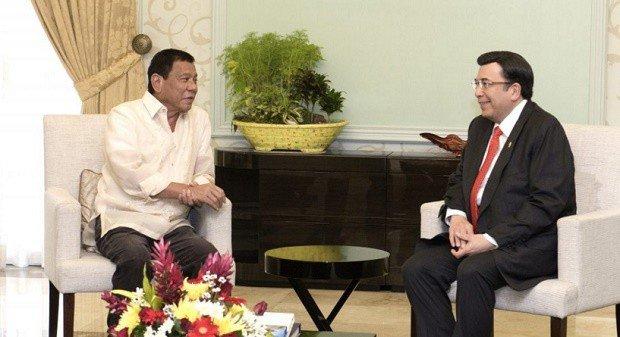 Duterte meets with Iglesia Ni Cristo's leader Ka Eduardo Manalo.