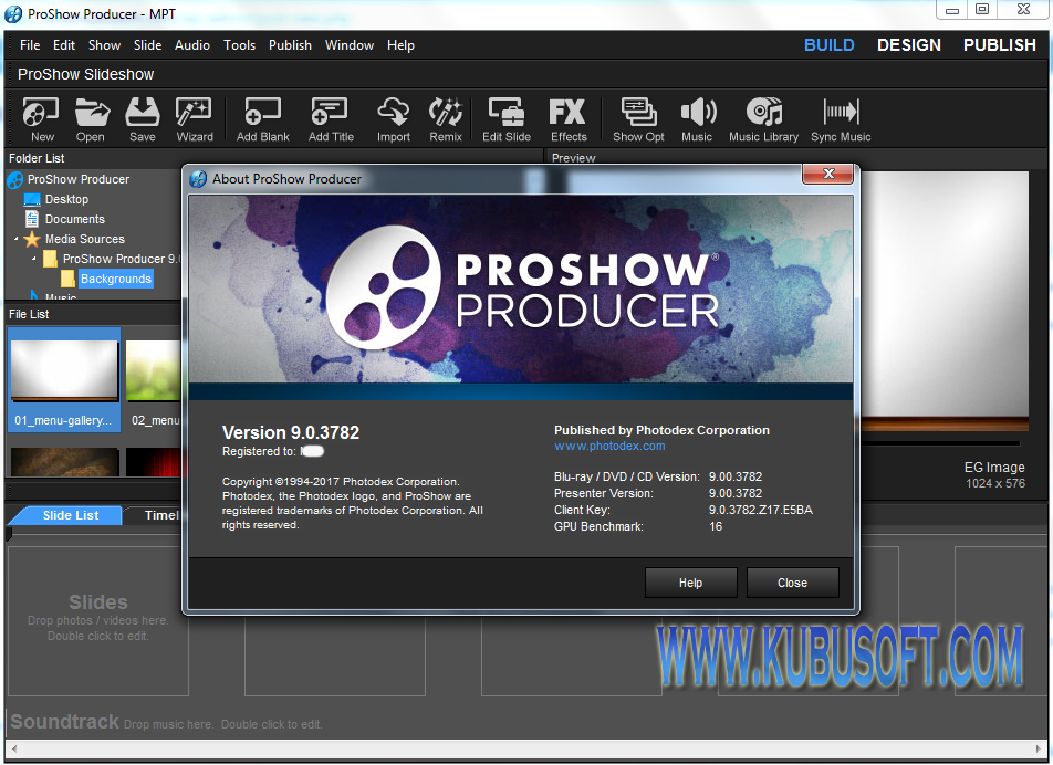 proshow producer 9 registration key
