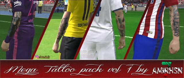PES 2017 Mega Tattoo Pack V1 dari Amir.Hsn7