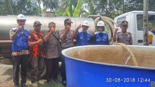 Bantuan Air Bersih SPBU Rawajaya untuk Masyarakat Bantarsari