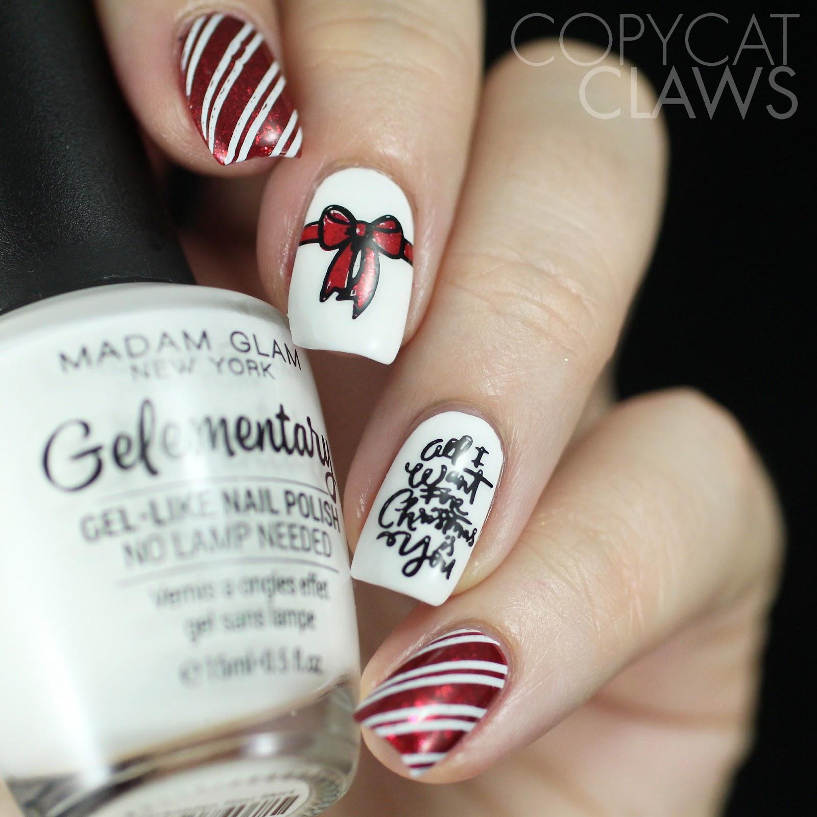 Copycat Claws: More Christmas Nail Art