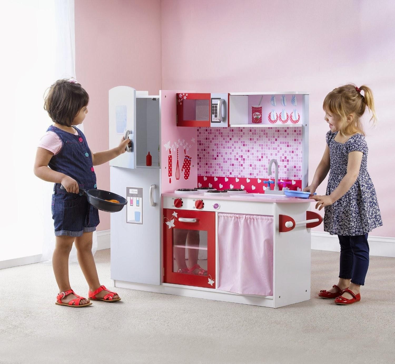 Children Play Kitchen Cabinet Desk Units 39s Wooden Toys Toy Furniture