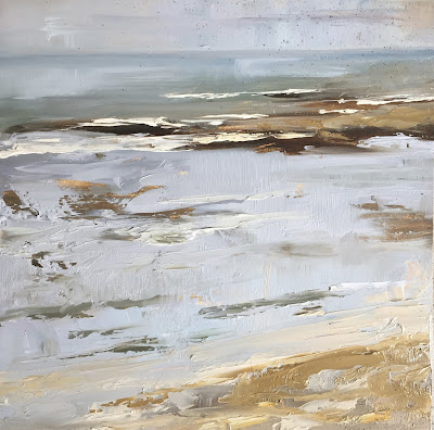 Shallows, plein air seascape in oil paint by Philine van der Vegte