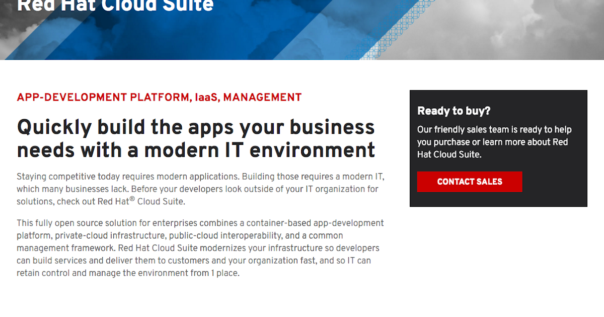 Eric D. Schabell: Ultimate App Dev Stack is Red Hat Cloud Suite