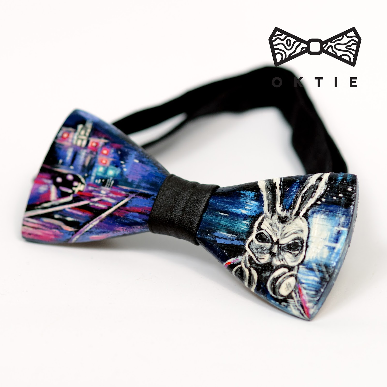 Oktie wood bow tie art series bunny voltagebd Choice Image