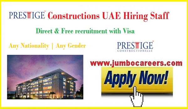 Latest construction company jobs in Ajman and Sharjah 2018,