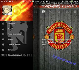 BBM Mod Manchester United V3.2.0.6 Apk