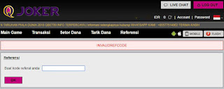 Bonus Referral Agen Bandar66 Online Terpercaya QJoker - www.Sakong2018.com