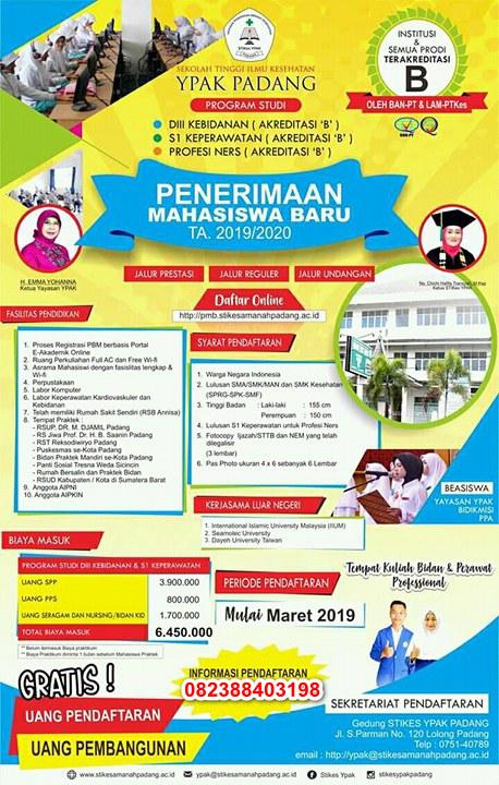 Informasi Pendaftaran Mahasiswa Baru STIKES Amanah Padang