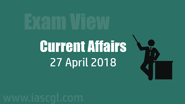Current Affair 27 April 2018
