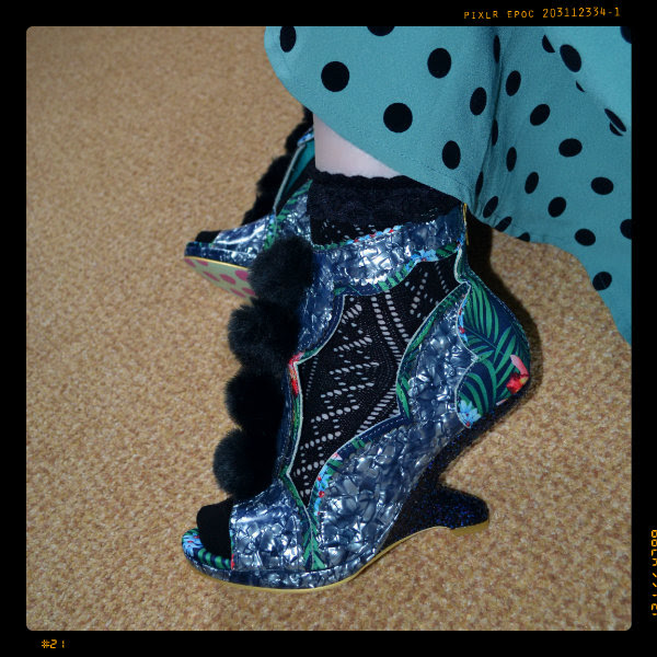 wearing irregular choice blue carni val