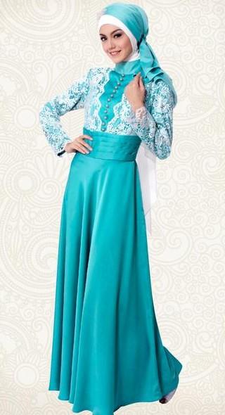 Model Baju Kebaya Gamis Brokat Wanita Muslimah Modern Syar'i