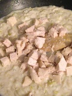 Pastel de pollo y puerros , preparación 8