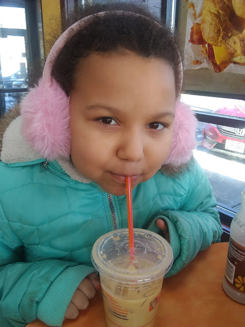 Sippin' Coconut Caramel Samoa at Dunkin' Donuts