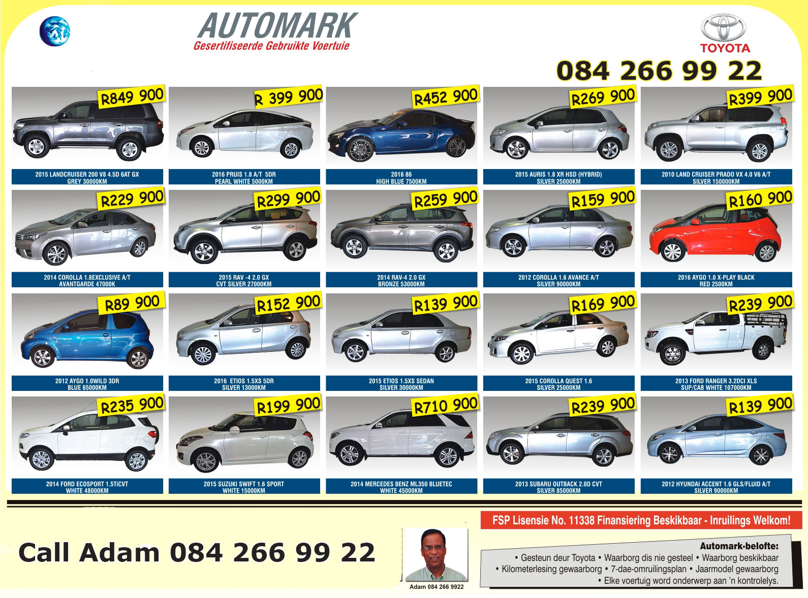 Stock Cars For Sale Cape Town